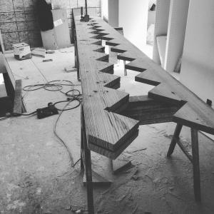 Broad Ripple Modern Craftsman Renovation - Exposed Stair Stringer Detail - WERK Building Modern, Paul Reynolds