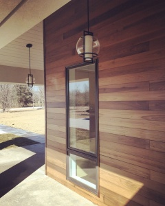 New Modern House Ditch - Side Porch Detail - Christopher Short, Architect, Indianapolis, HAUS Architecture