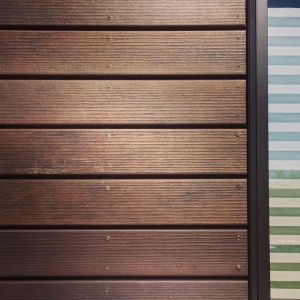 New Modern House Treesdale - Slatwall Detail - HAUS Architecture