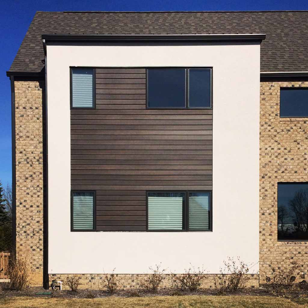 New Modern House Treesdale - Slatwall Detail - Christopher Short, Architect, Indianapolis, HAUS Architecture