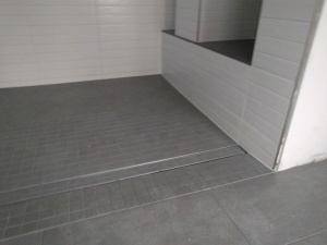 Broad Ripple Modern Craftsman Renovation - Curbless Shower Tile Complete - Paul Reynolds