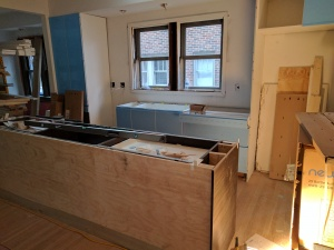 Broad Ripple Modern Craftsman Renovation - Cabinetry Awaiting Tops - Paul Reynolds