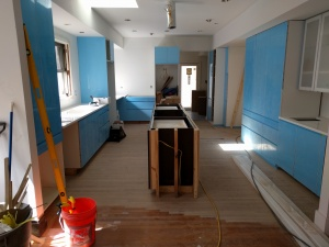 Broad Ripple Modern Craftsman Renovation - Cabinetry with Countertops Beginning - Paul Reynolds