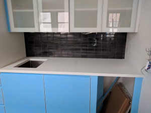 Broad Ripple Modern Craftsman Renovation - Bar Backsplash - Paul Reynolds