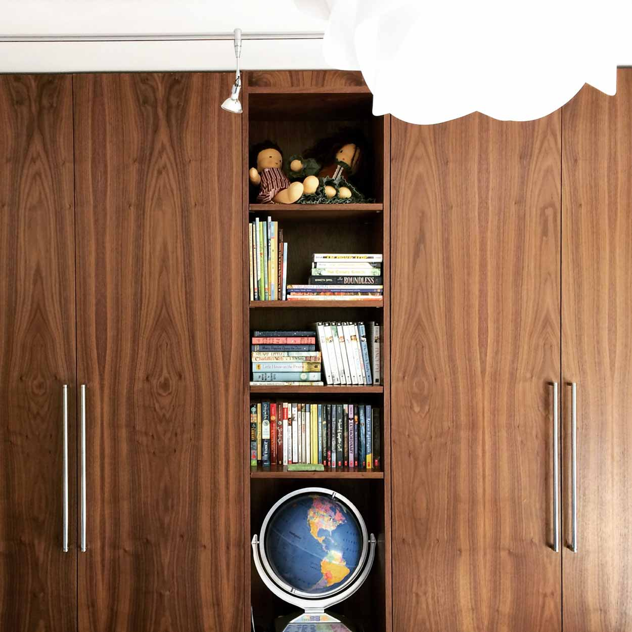 Midcentury Modern Renovation 2 - Closet Detail - Christopher Short, Architect, Indianapolis, HAUS Architecture