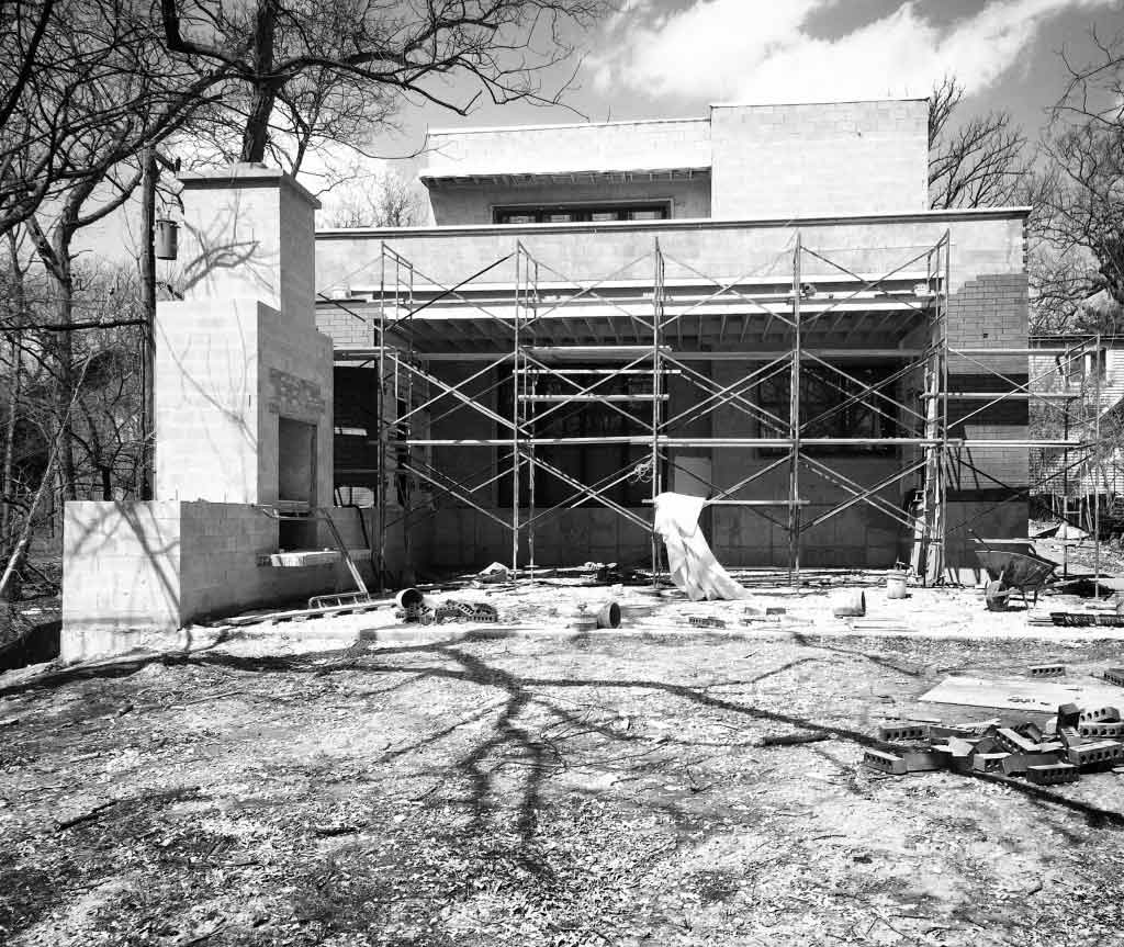 New Modern House 3 - Back Elevation Progress