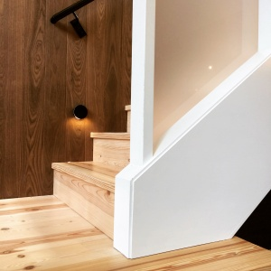 New Modern House 1 - Stair Detail - Christopher Short, Architect, Indianapolis, HAUS Architecture