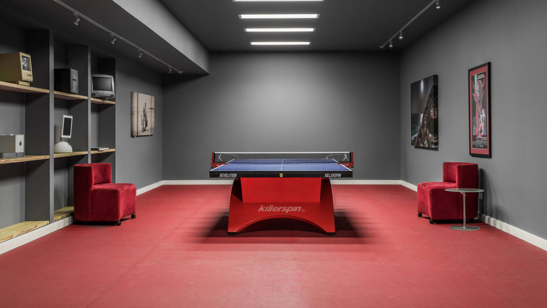 New Modern House 1 - Table Tennis Room - Christopher Short, Architect, Indianapolis, HAUS Architecture