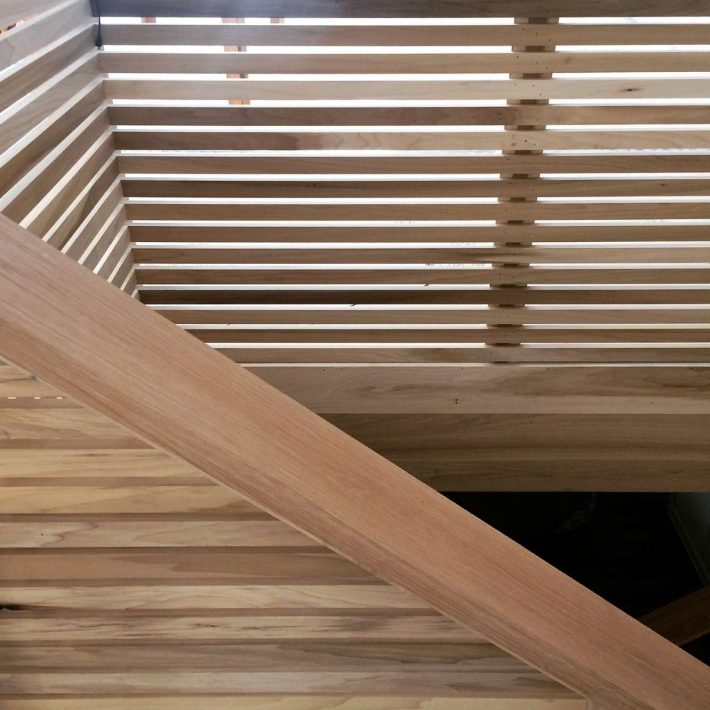 Poplar Architectural Stair Construction Details - Modern Lakehouse, Clearwater, Indianapolis, Derek Mills, WERK Building Modern, HAUS Architecture For Modern Lifestyles