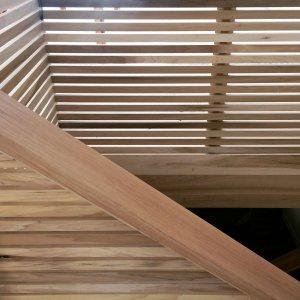 Poplar Architectural Stair Construction Details - Modern Lakehouse, Clearwater, Indianapolis, Derek Mills, WERK Building Modern, HAUS Architecture For Modern Lifestyles