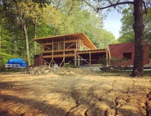 Upper roof finished-off - Lakeside Modern Cottage - Unionville, Indiana, Lake Lemon - Christopher Short, Derek Mills, Paul Reynolds, Architects, HAUS Architecture + WERK | Building Modern - Construction Managers - Architect Custom Builders