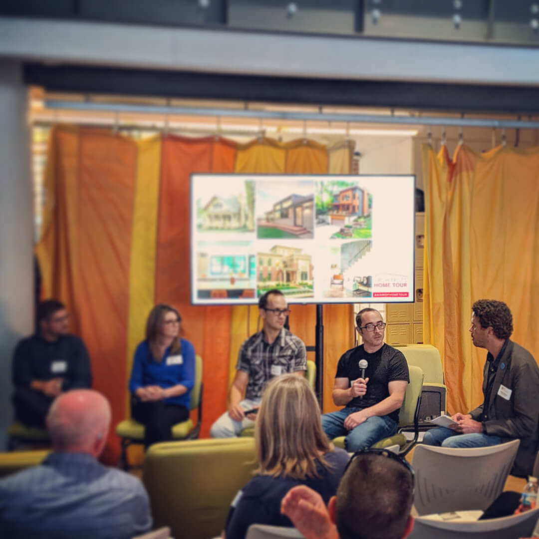 Derek Mills shares his experiences in designing residential architecture + interiors at the September AIA Indianapolis public forum hosted by The Platform at the City Market, downtown Indianapolis - HAUS | Architecture For Modern Lifestyles, WERK | Building Modern, AIA Home Tour 2018 - Esther House