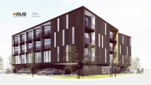 Early Scheme Southeast Corner (March 2016) - G BLOC MIXED USE Development - Broad Ripple North Village - Urban Infill - Indianapolis - Christopher Short, Indianapolis Architect, HAUS Architecture For Modern Lifestyles, WERK | Building Modern, Thomas English Retail Real Estate