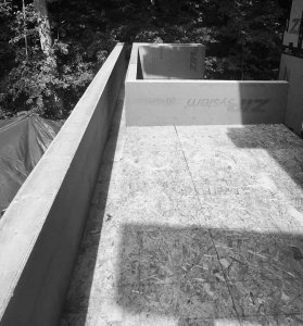 Special Roof Drainage Canopy Channel - Lakeside Modern Cottage - Unionville, Indiana, Lake Lemon - Christopher Short, Derek Mills, Paul Reynolds, Architects, HAUS Architecture + WERK | Building Modern - Construction Managers - Architect Custom Builders