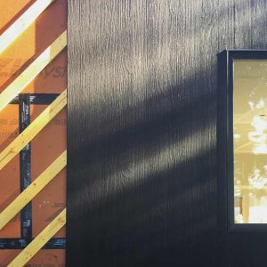 Shou Sugi Ban Detail - Delta Millworks - Lakeside Modern Cottage - Unionville, Indiana, Lake Lemon - Christopher Short, Derek Mills, Paul Reynolds, Architects, HAUS Architecture + WERK | Building Modern - Construction Managers - Architect Custom Builders
