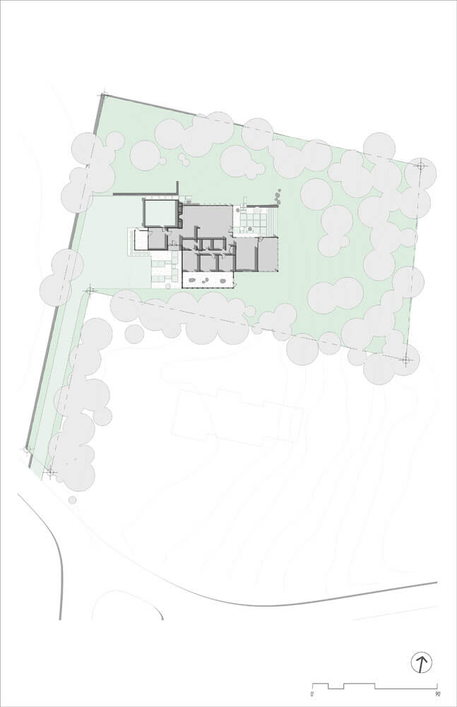 Site Plan - Midcentury Modern Renovation - 81st Street - Indianapolis, Christopher Short, Architect, HAUS Architecture