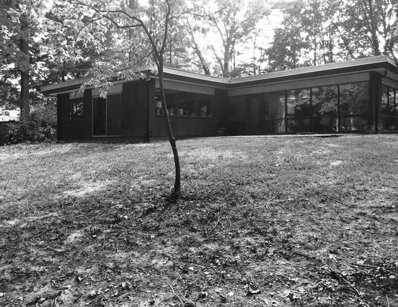 Before Exterior Photograph - Midcentury Modern Renovation - 81st Street - Indianapolis, Christopher Short, Architect, HAUS Architecture