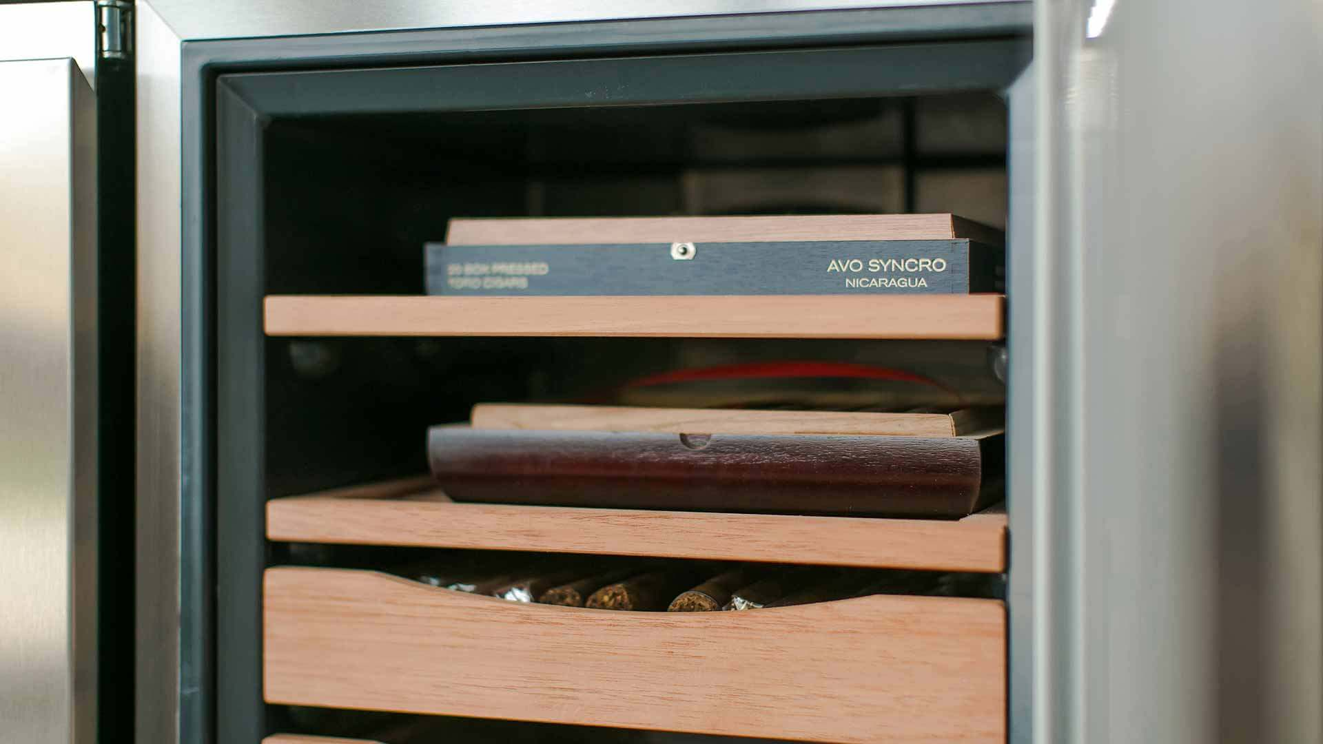 Humidor Detail - Cigar Room - Midcentury Modern Addition - Brendonwood, Indianapolis - Christopher Short, Paul Reynolds, Architects, HAUS | Architecture For Modern Lifestyles - WERK | Building Modern - Paul Reynolds, Project Manager