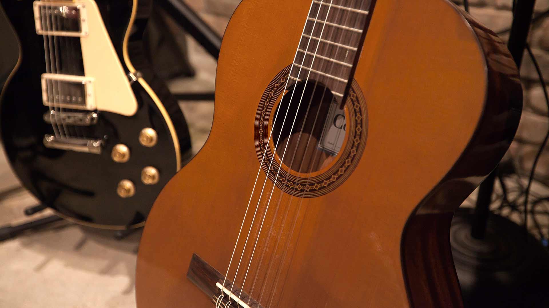 Guitar Detail - Minimalist Modern - Indian Head Park - Chicago, Illinois - HAUS   Architecture For Modern Lifestyles, Christopher Short, Indianapolis Architect with Joe Trojanowski
