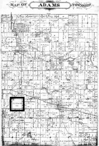 Historic Adams Township Map - Client Land Plot - Back40House - Markleville, IN - HAUS | Architecture For Modern Lifestyles, Christopher Short, Indianapolis Architect - WERK | Building Modern, Paul Reynolds, Construction Manager