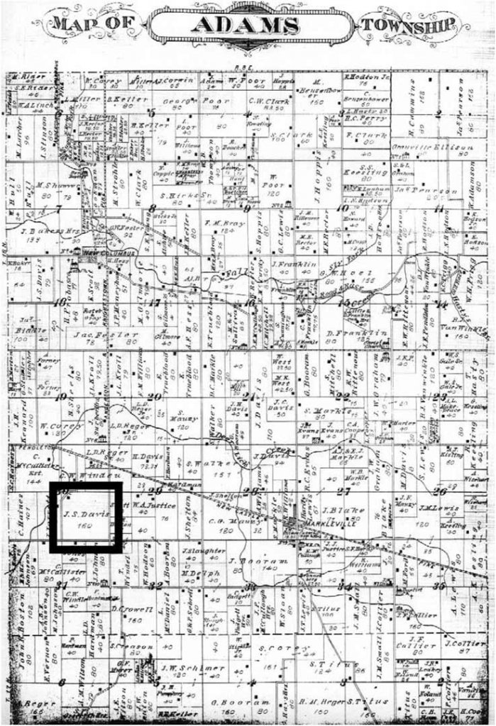 Historic Adams Township Map - Client Land Plot - Back40House - Marklesville, IN - HAUS | Architecture For Modern Lifestyles, Christopher Short, Indianapolis Architect - WERK | Building Modern, Paul Reynolds, Construction Manager