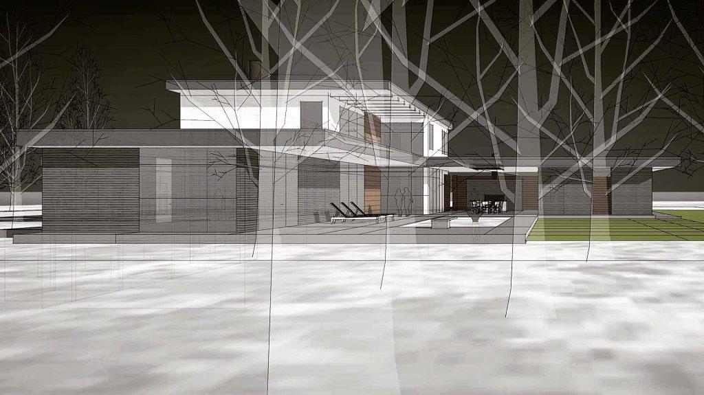 Paper Architecture (unbuilt 2015 midcentury modern inspired design) - North Crows Nest - Indianapolis, IN - HAUS | Architecture
