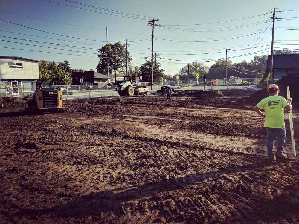 Mass Excavation - Soils Compaction - G BLOC MIXED USE Development - Broad Ripple North Village - Urban Infill - Indianapolis