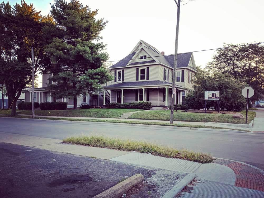 Guilford Streetscape Pre-Demolition - Vinyl Siding - Victorian Architecture - G BLOC MIXED USE DEVELOPMENT - Broad Ripple North Village - Indianapolis