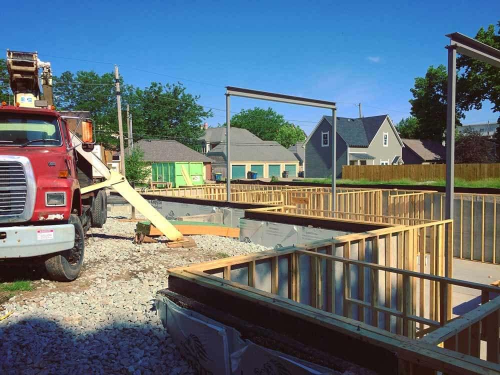 Foundations + Framing + Steel Progress - Modern Villa Urban Home, Old Northside, Indianapolis