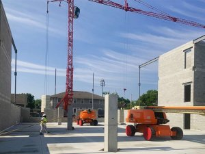 Tower Crane - Steel Installation - G BLOC MIXED USE Development - Broad Ripple North Village - Urban Infill - Indianapolis - Christopher Short, Indianapolis