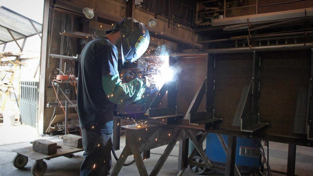 Steel Shop Fabrication - Welding - G BLOC MIXED USE Development - Broad Ripple North Village - Urban Infill - Indianapolis