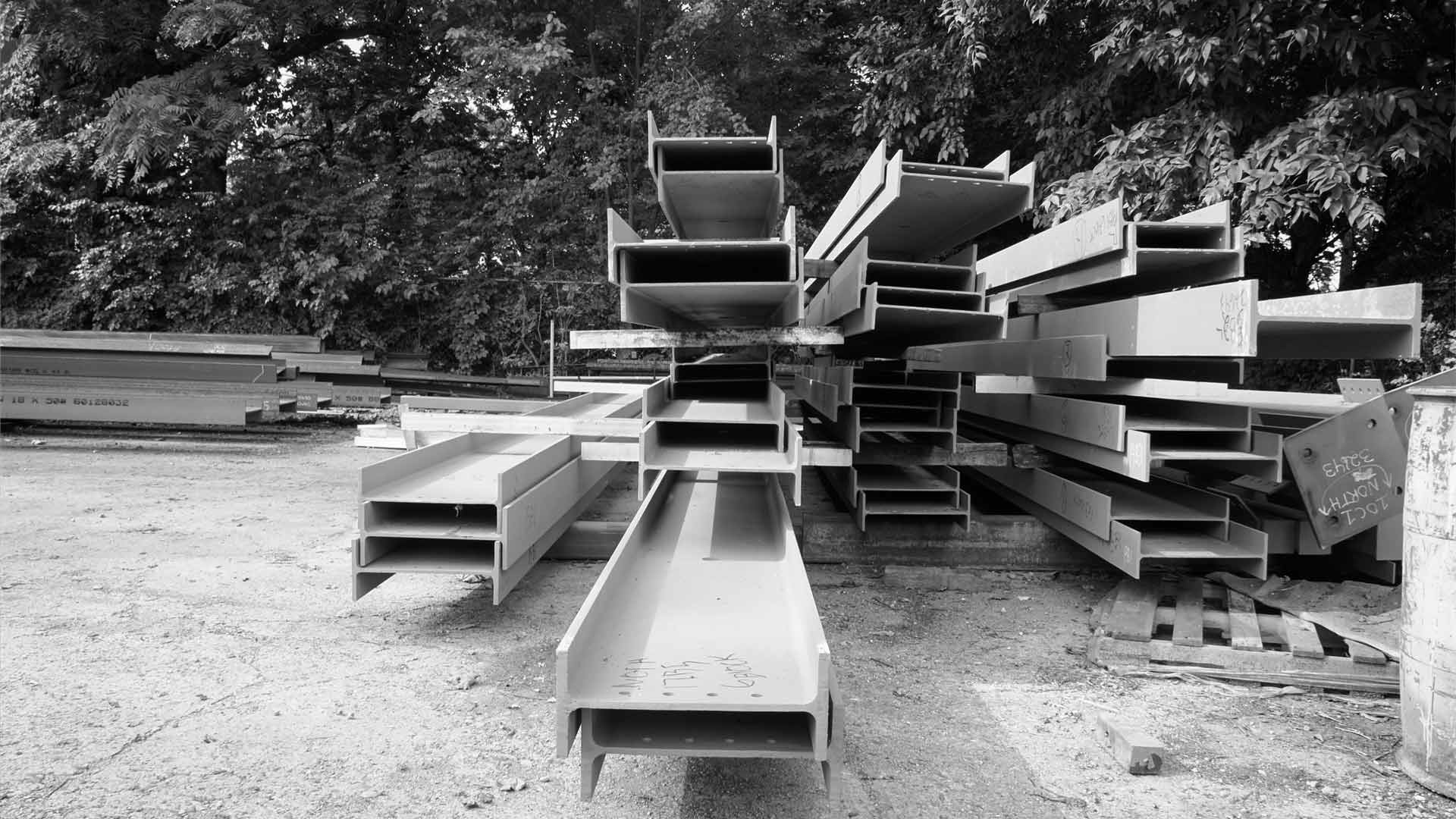 Structural Steel Ready for Site Delivery (Steel Yard) - Broad Ripple North Village - Urban Infill - Indianapolis