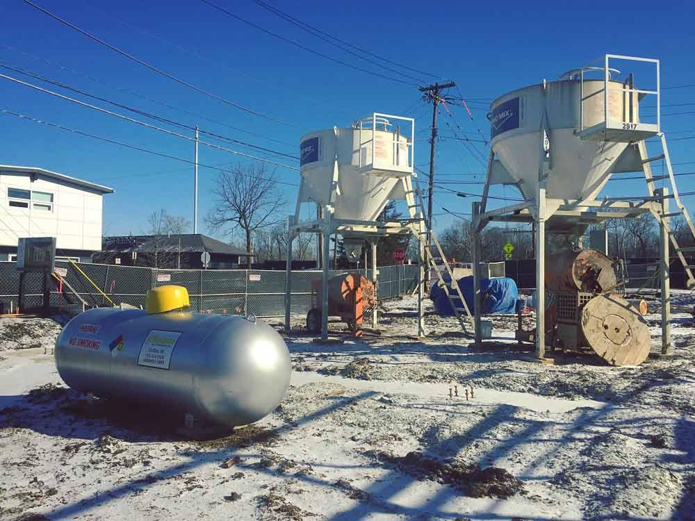 CMU Contractor Winter Mobilization - Broad Ripple North Village - Urban Infill - Indianapolis