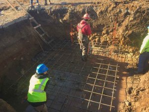Elevator Pit Foundation Reinforcing Installation - Broad Ripple North Village - Urban Infill - Indianapolis - Christopher Short, Indianapolis Architect, HAUS Architecture For Modern Lifestyles, WERK | Building Modern, Thomas English Retail Real Estate