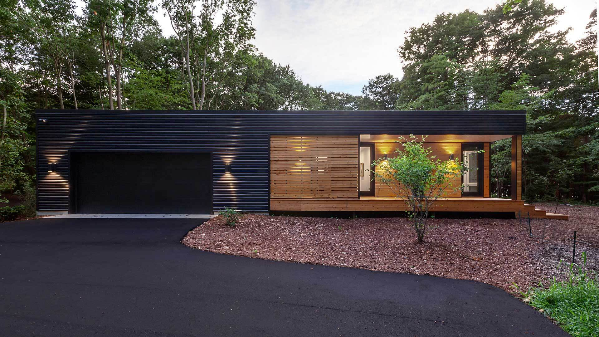 Exterior East Elevation - Bridge House - Fennville, Michigan - Lake Michigan