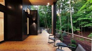 Entry Porch Looking South - Bridge House - Fennville, Michigan - Lake Michigan