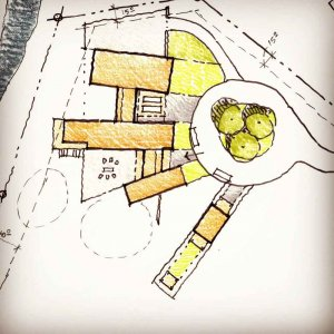 Site Sketch Concept - Forest Gallery House - Fishers, IN