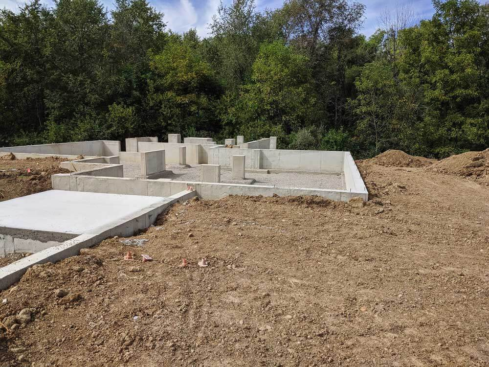 Foundation Walls Complete - Back40House - Pendleton, IN - HAUS   Architecture For Modern Lifestyles, Christopher Short, Indianapolis Architect - WERK   Building Modern, Paul Reynolds, Construction Manager
