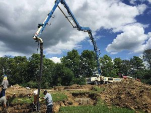 Concrete Pump for Footings - Back40House - Pendleton, IN - HAUS | Architecture For Modern Lifestyles, Christopher Short, Indianapolis Architect - WERK | Building Modern, Paul Reynolds, Construction Manager