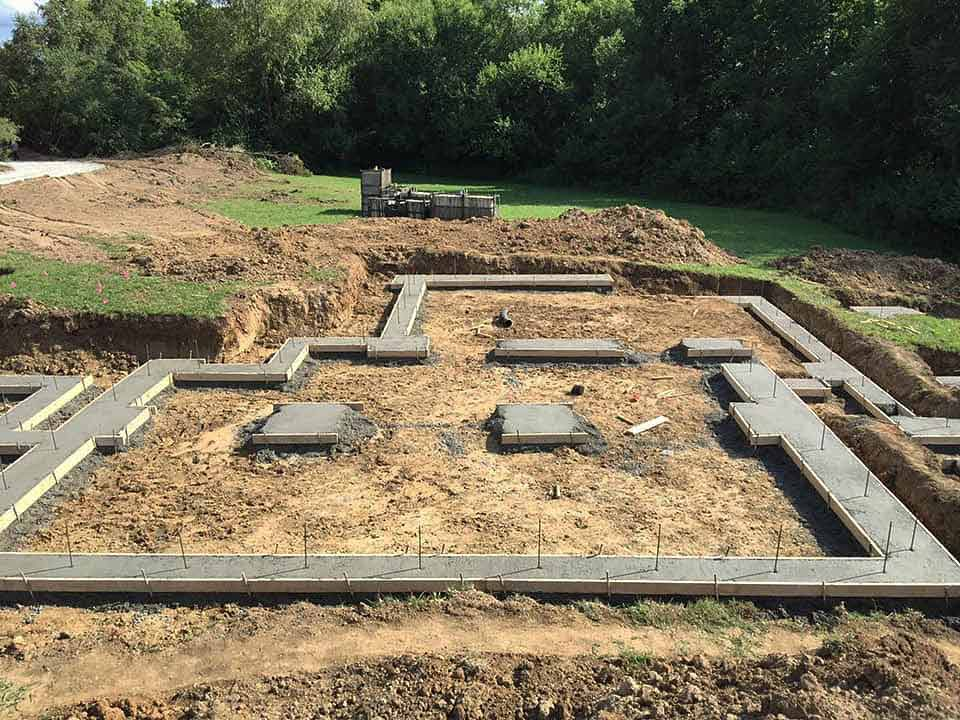 Concrete Footings Placed - Back40House - Pendleton, IN - HAUS | Architecture For Modern Lifestyles, Christopher Short, Indianapolis Architect - WERK | Building Modern, Paul Reynolds, Construction Manager