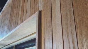 White Oak Interior Wall Cladding Detail - Scandinavian Modern Interior - Indianapolis, IN - HAUS | Architecture For Modern Lifestyles + WERK | Building Modern