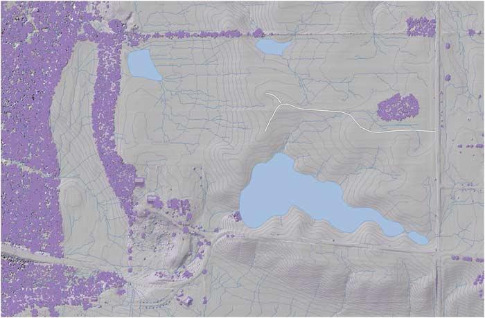 Site Study GIS Mapping - Silvopasture Farmhouse - St. Paul, Indiana