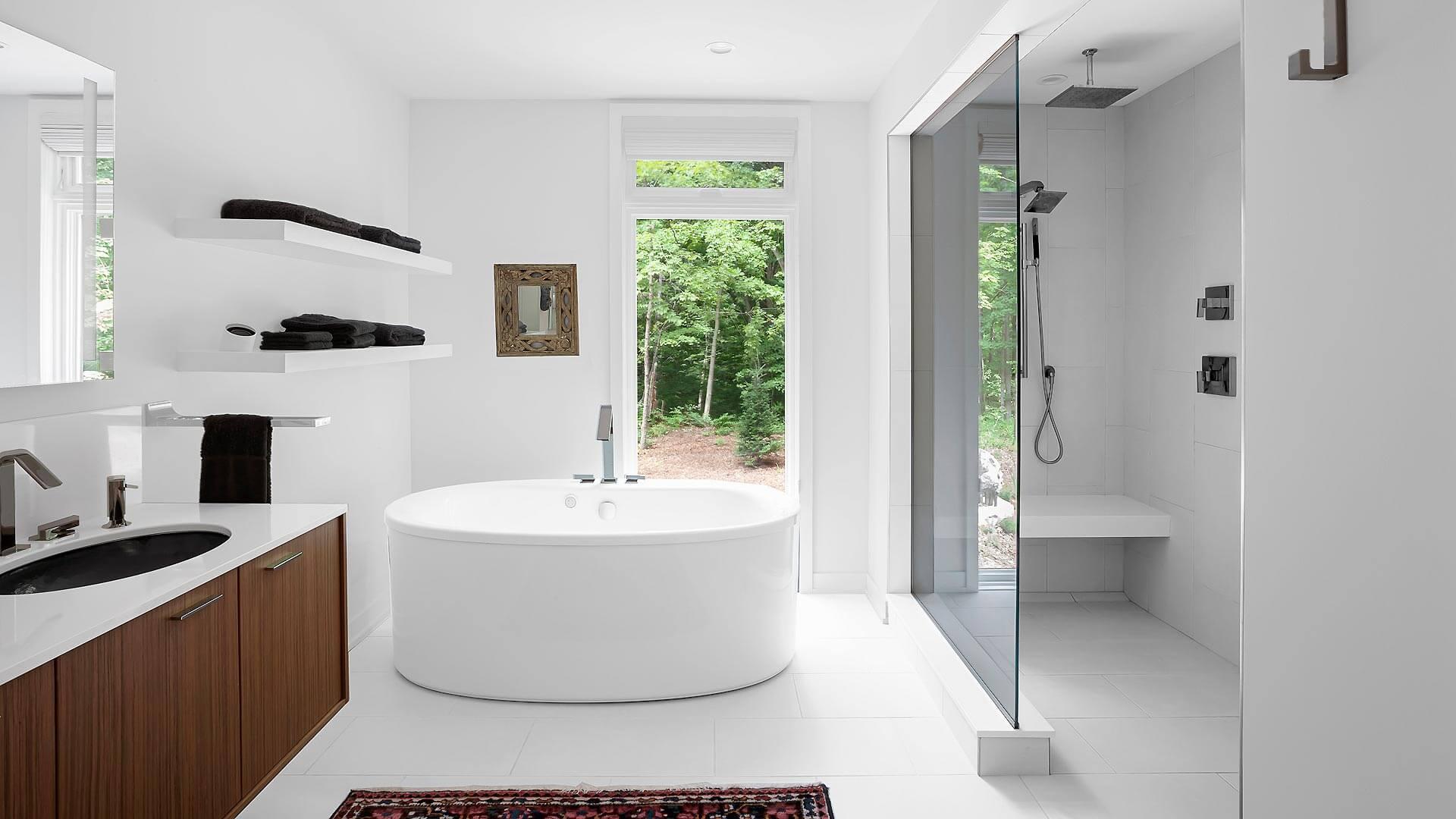 Master Spa Bathroom - Bridge House - Fenneville, Michigan - Lake Michigan