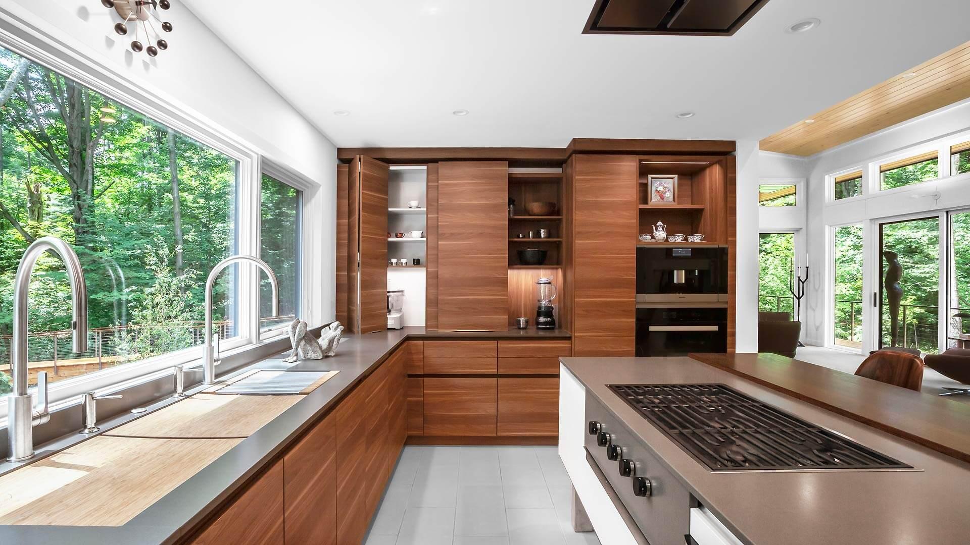 Modern Kitchen - Bridge House - Fenneville, Michigan - Lake Michigan - Saugatuck, Michigan - Douglas, Michigan
