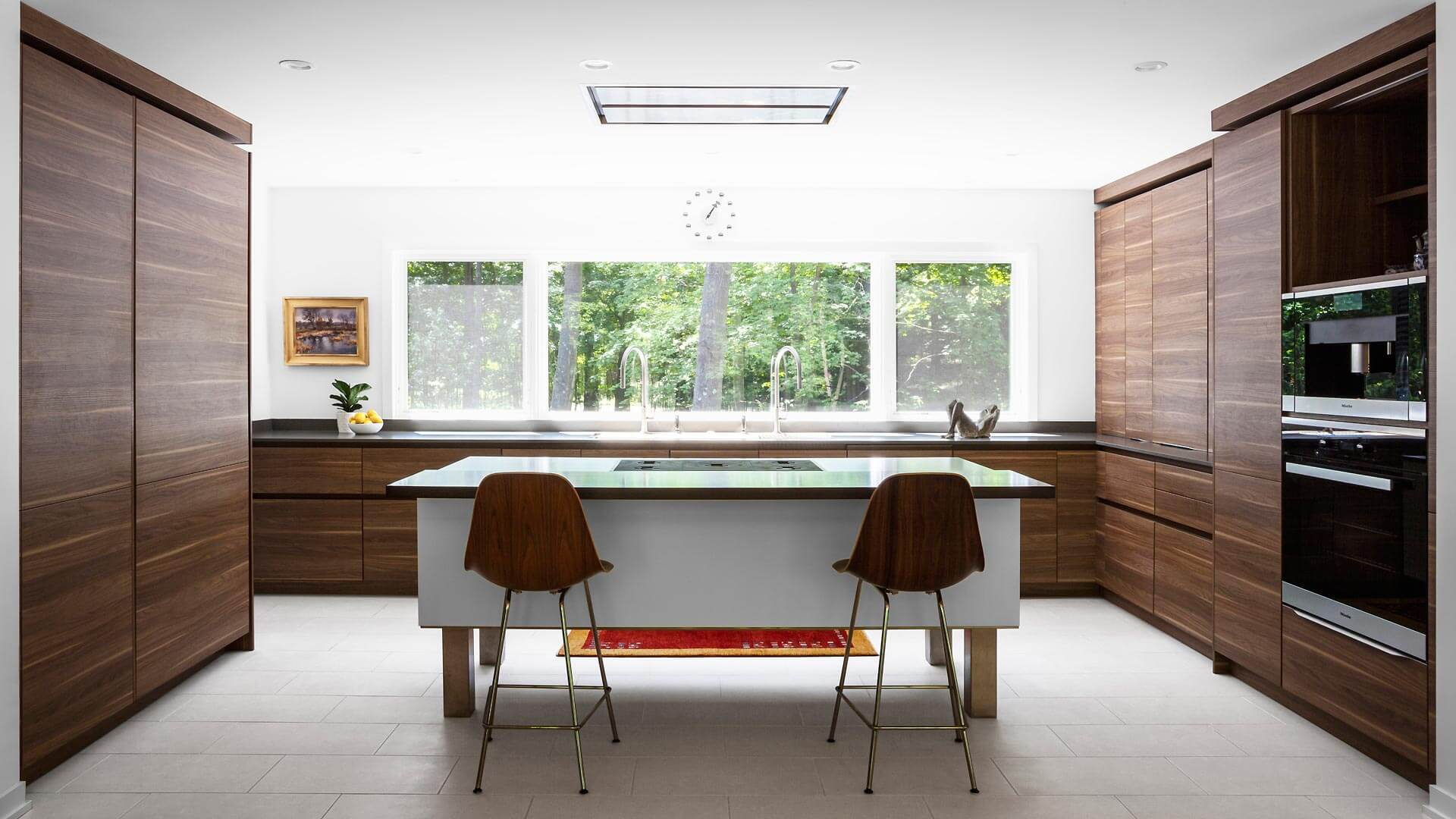 Modern Kitchen Island - Bridge House - Fenneville, Michigan - Lake Michigan