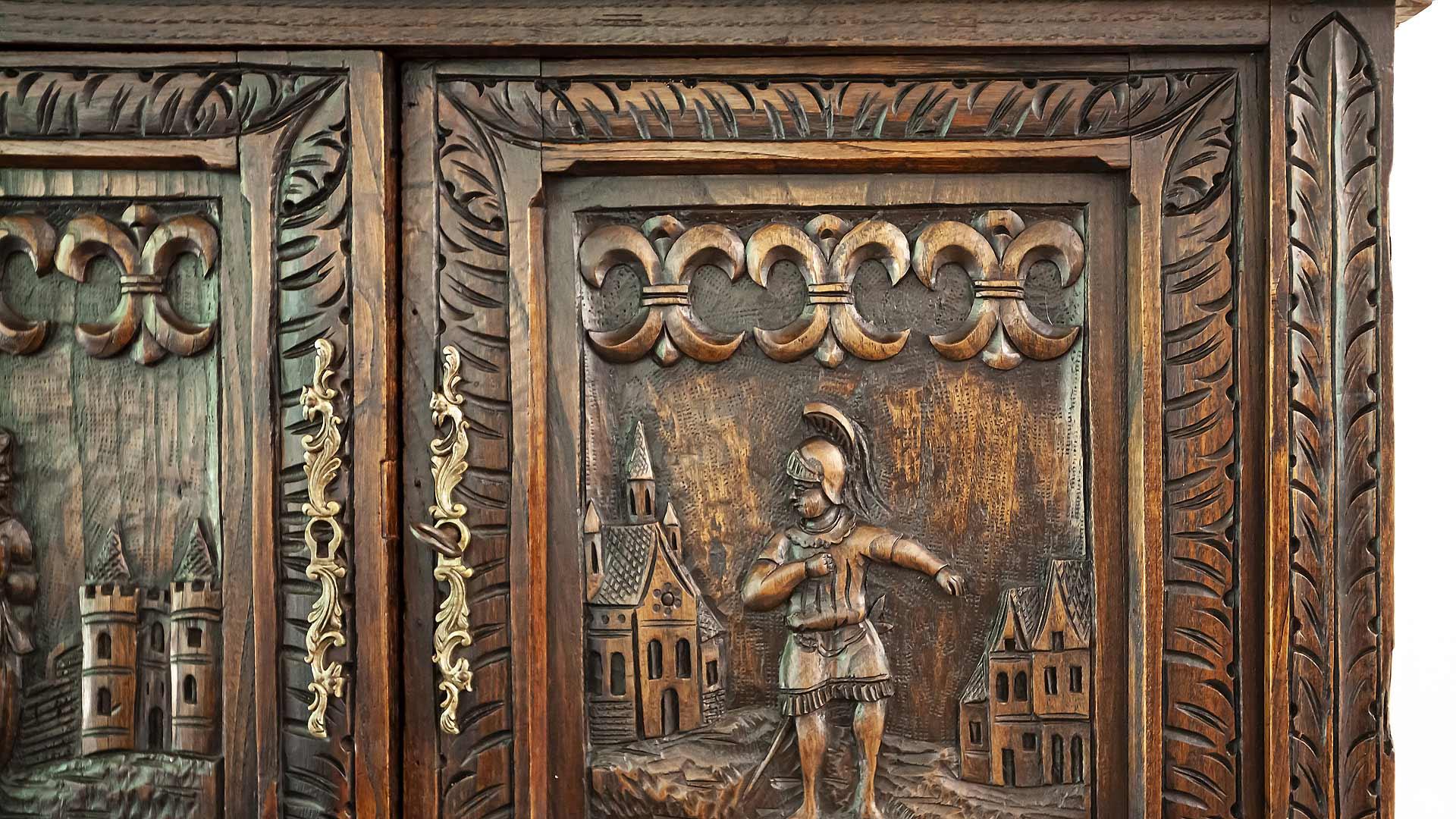European antique accommodates dry bar function - Bridge House - Fenneville, Michigan - Lake Michigan - HAUS | Architecture For Modern Lifestyles, Christopher Short, Indianapolis Architect, Tom Rigney, TR Builders - Saugatuck, Michigan - Douglas, Michigan