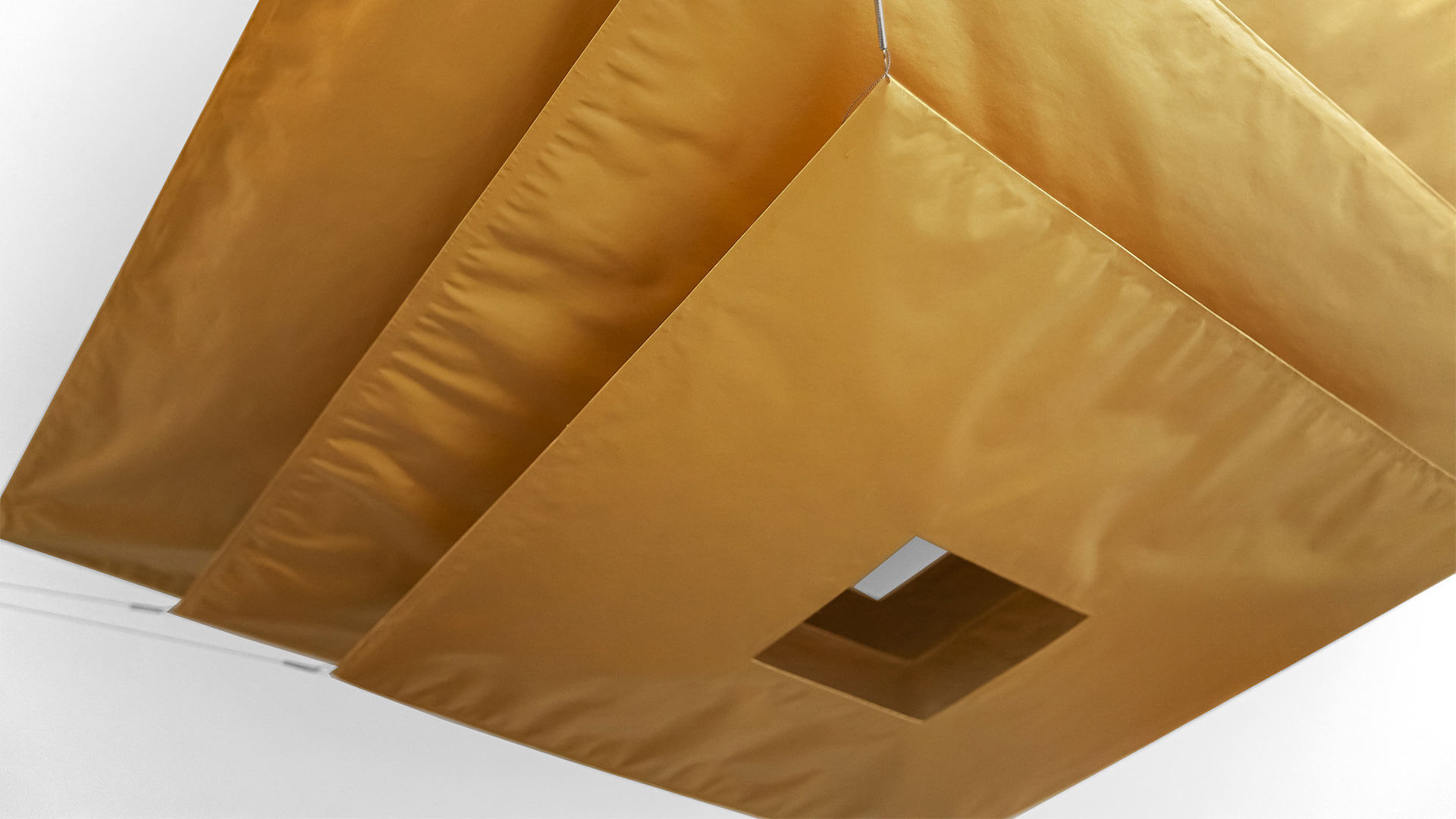 Lil Luxury Fabric Light Fixture by Ingo Maurer (Master Bedroom) - Bridge House - Fenneville, Michigan - Lake Michigan