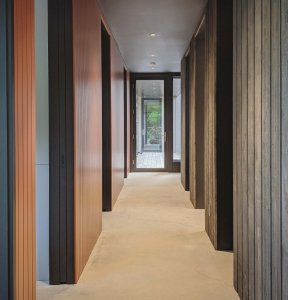 Entry Hall brings outside material inside - Back40House - Pendleton, IN - HAUS | Architecture - WERK | Building Modern