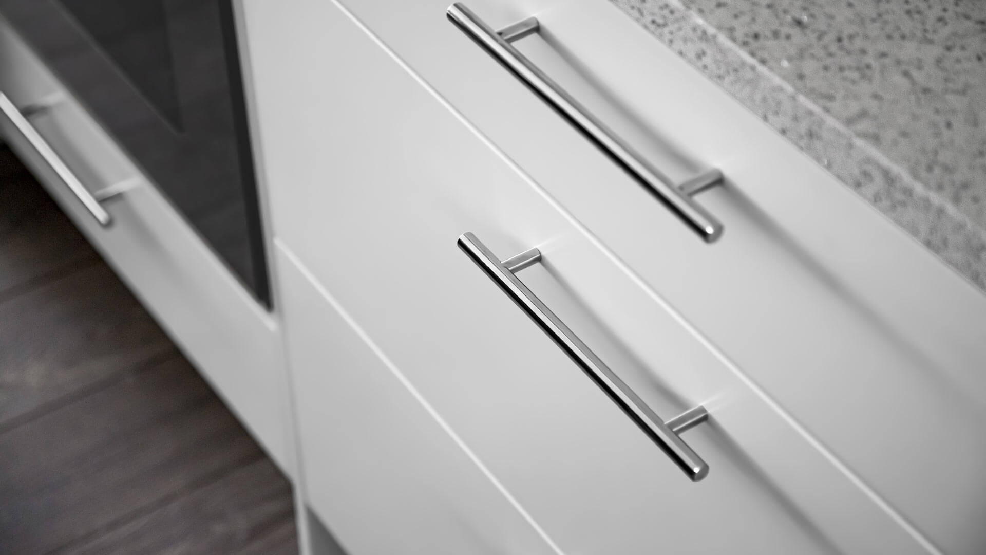 custom white kitchen cabinets wrap kitchen perimeter - Lakeside Modern Cottage (H-LODGE) - Unionville, Indiana, Lake Lemon