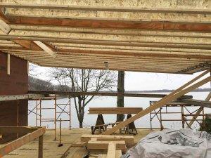 View to Lake from Future Screened Porch - Modern Lakeside Retreat - Grandview Lake - Columbus, Indiana